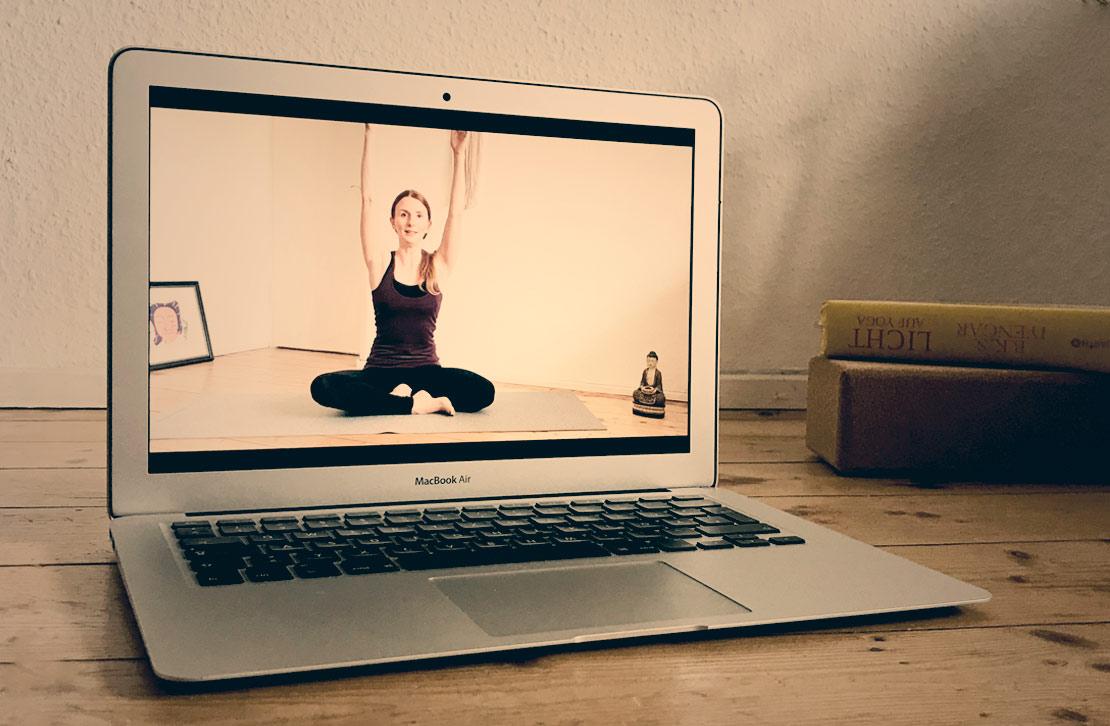 Online Yoga Laptop